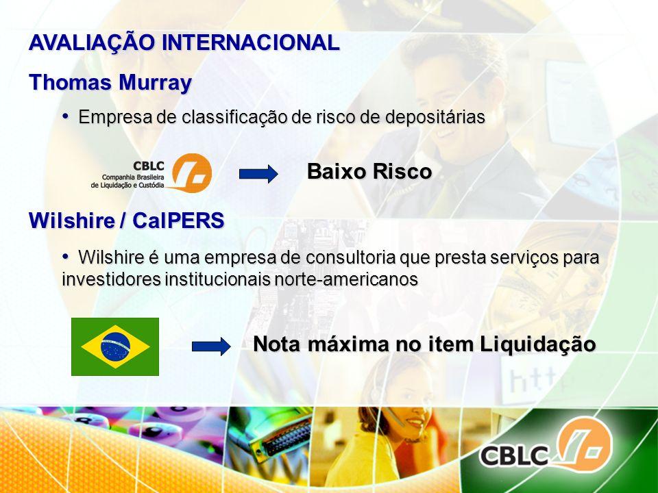 AVALIAÇÃO INTERNACIONAL Thomas Murray