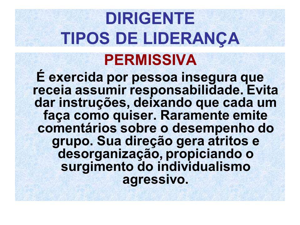 DIRIGENTE TIPOS DE LIDERANÇA
