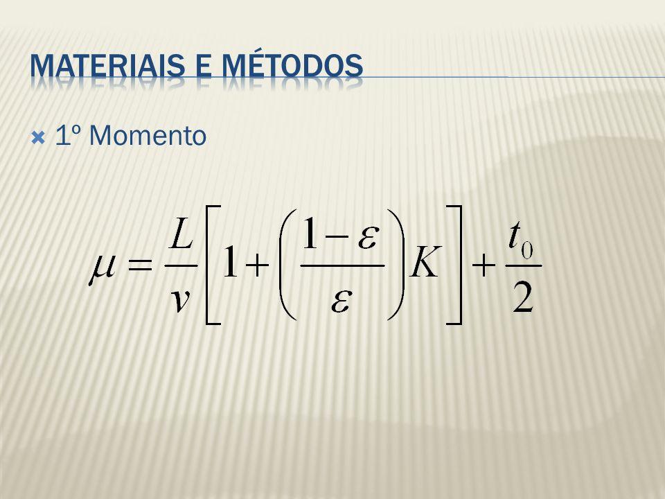 Materiais e métodos 1º Momento