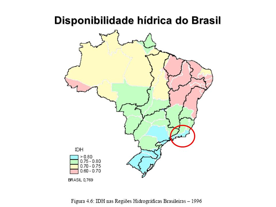 Disponibilidade hídrica do Brasil