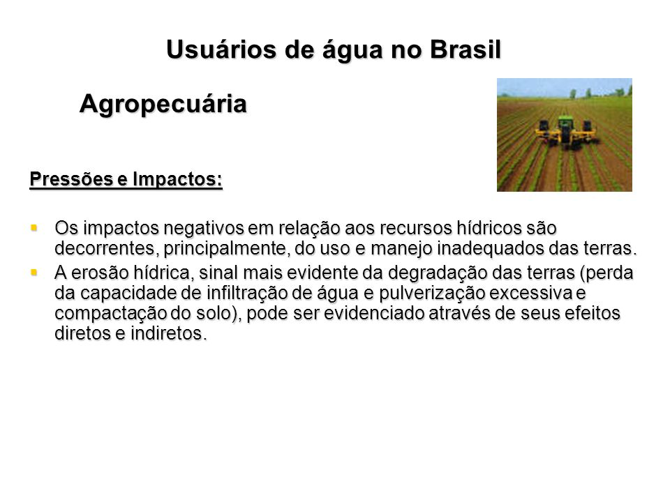 Usuários de água no Brasil