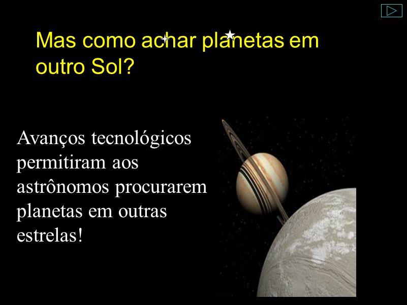 Mas como achar planetas em outro Sol