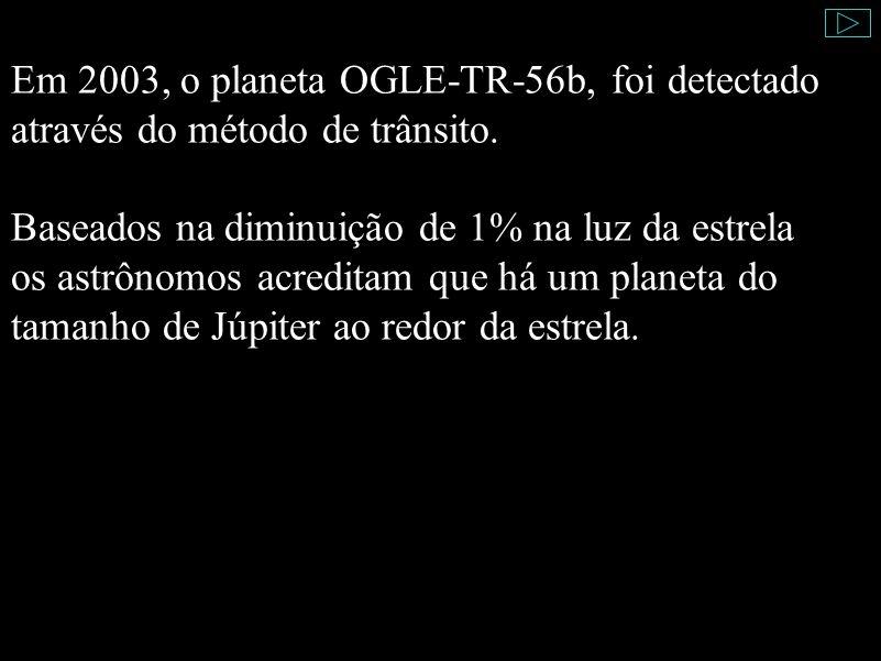 Em 2003, o planeta OGLE-TR-56b, foi detectado através do método de trânsito.