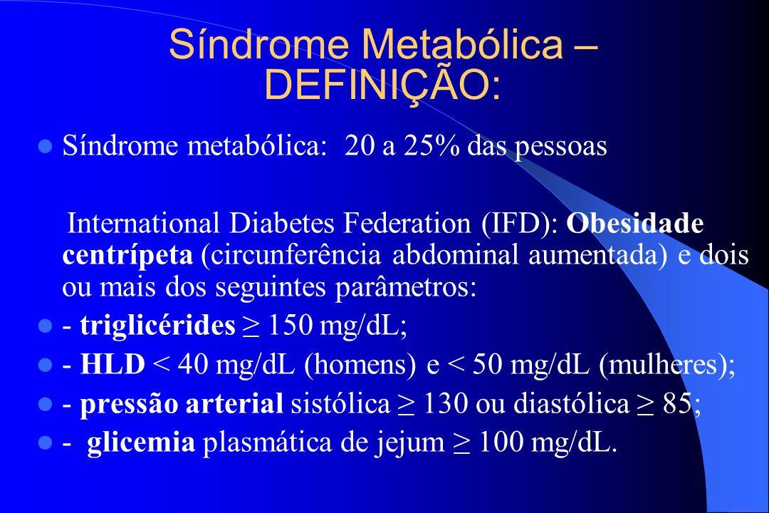 Síndrome Metabólica – DEFINIÇÃO: