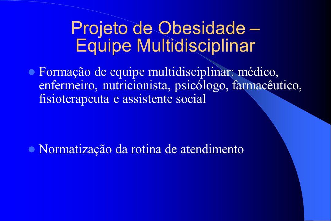 Projeto de Obesidade – Equipe Multidisciplinar