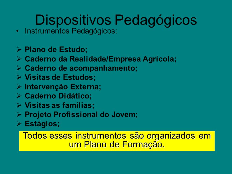 Dispositivos Pedagógicos