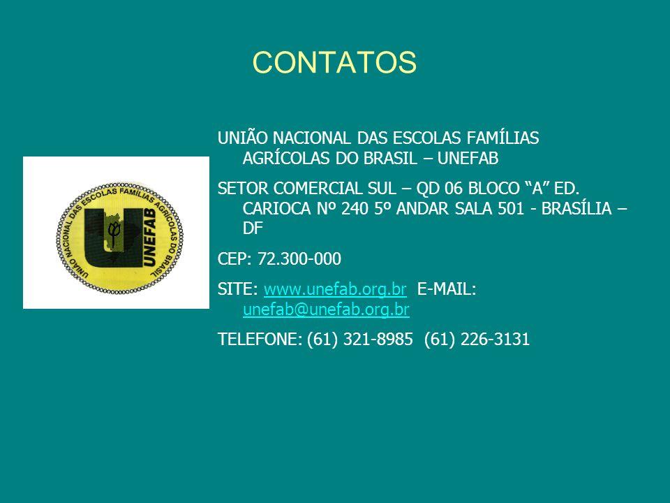CONTATOSUNIÃO NACIONAL DAS ESCOLAS FAMÍLIAS AGRÍCOLAS DO BRASIL – UNEFAB.