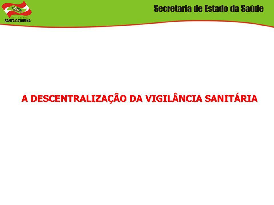 A DESCENTRALIZAÇÃO DA VIGILÂNCIA SANITÁRIA