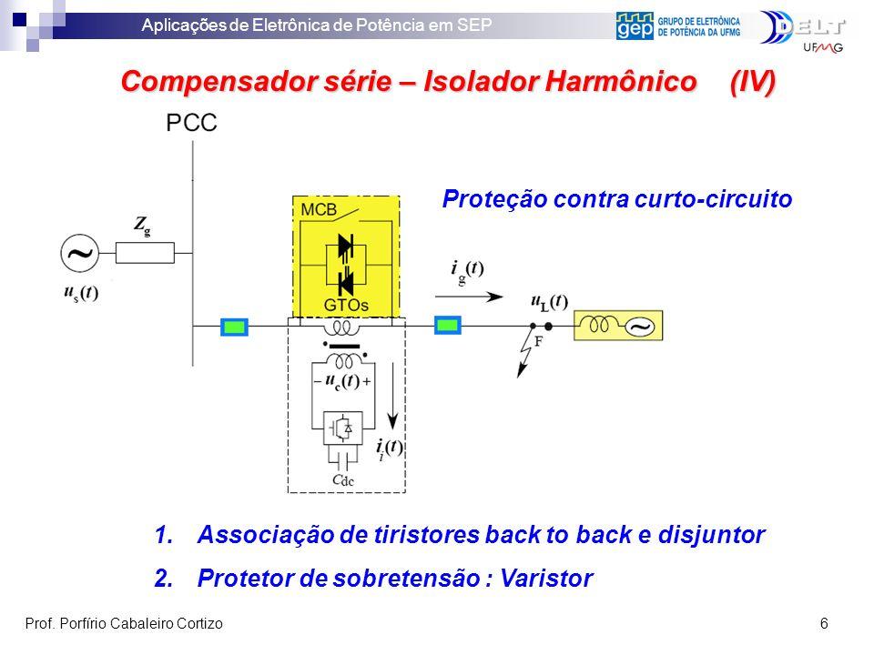Compensador série – Isolador Harmônico (IV)