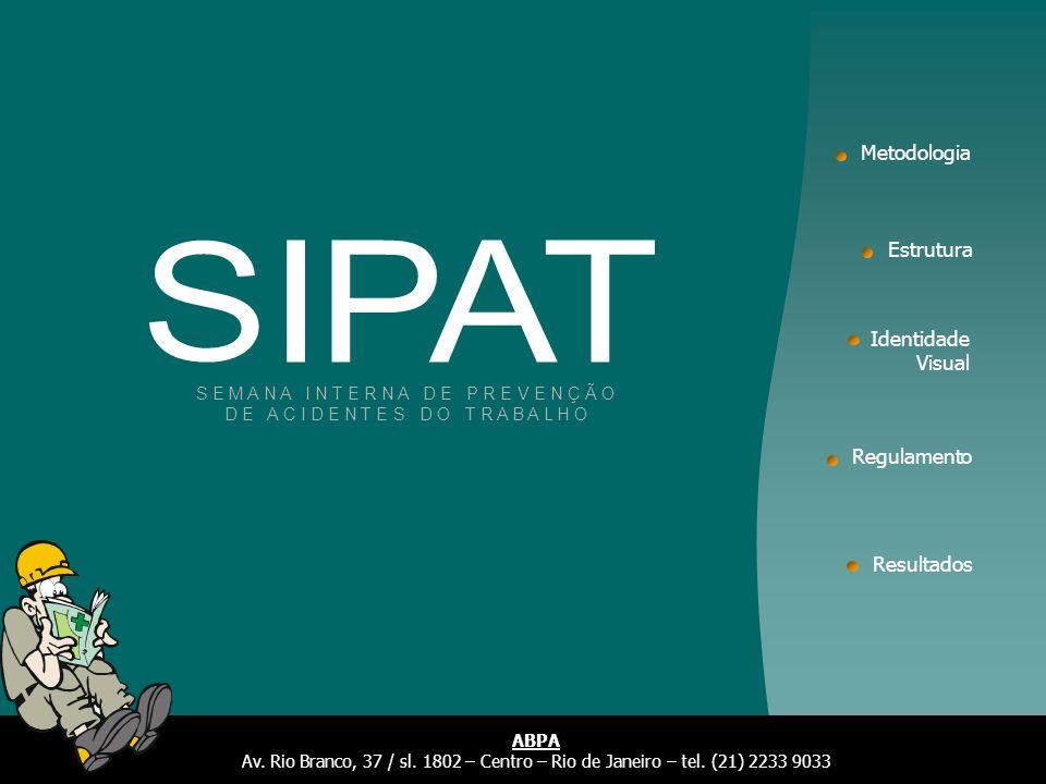 SIPAT Metodologia Estrutura Identidade Visual Regulamento Resultados