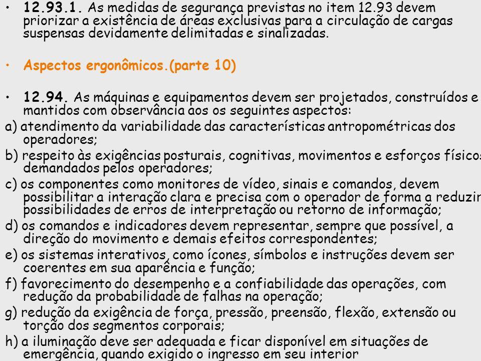 12. 93. 1. As medidas de segurança previstas no item 12