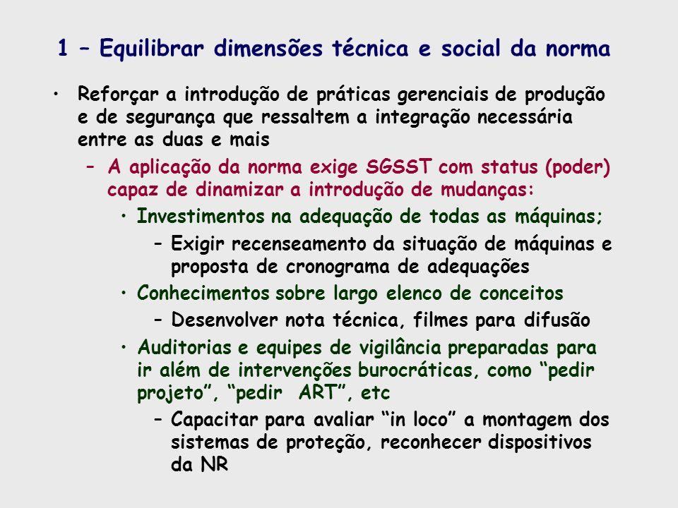 1 – Equilibrar dimensões técnica e social da norma