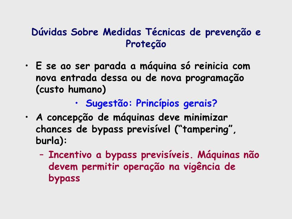 Dúvidas Sobre Medidas Técnicas de prevenção e Proteção