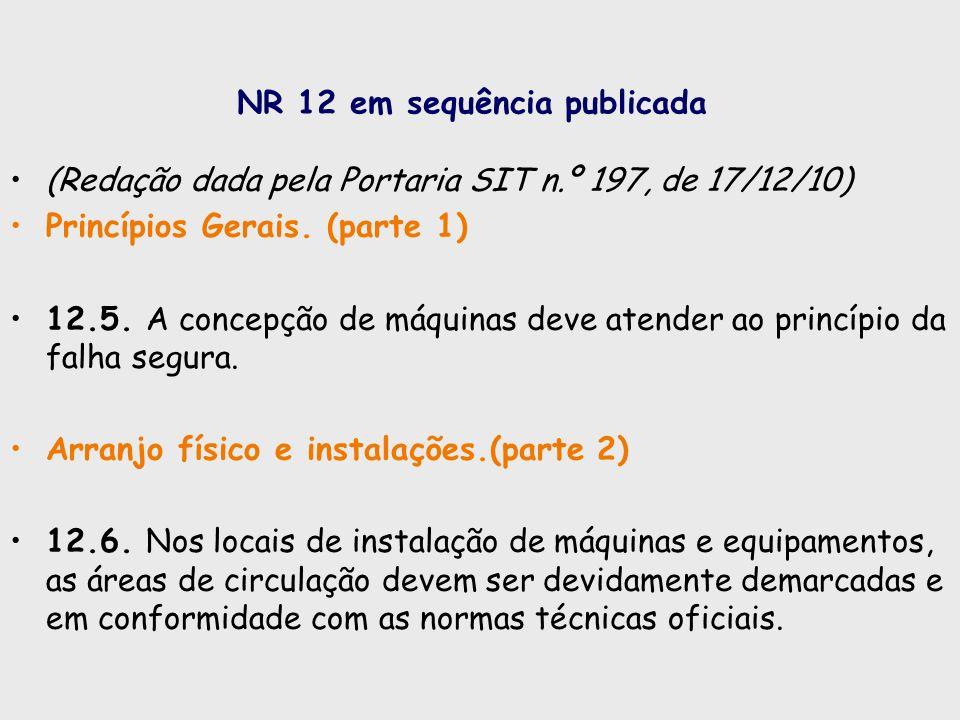 NR 12 em sequência publicada