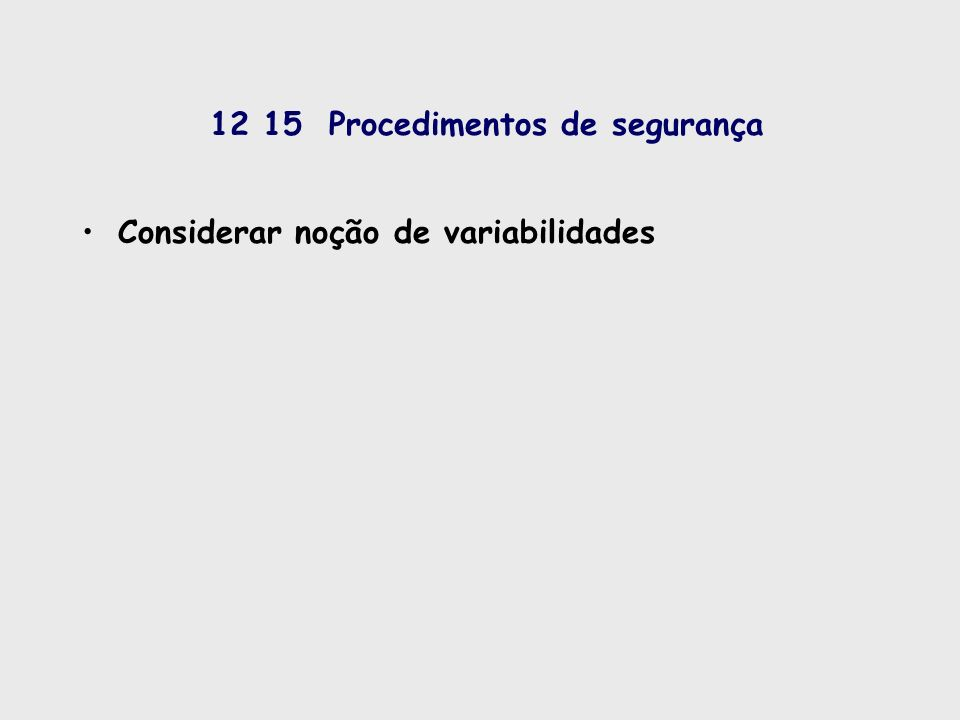 12 15 Procedimentos de segurança