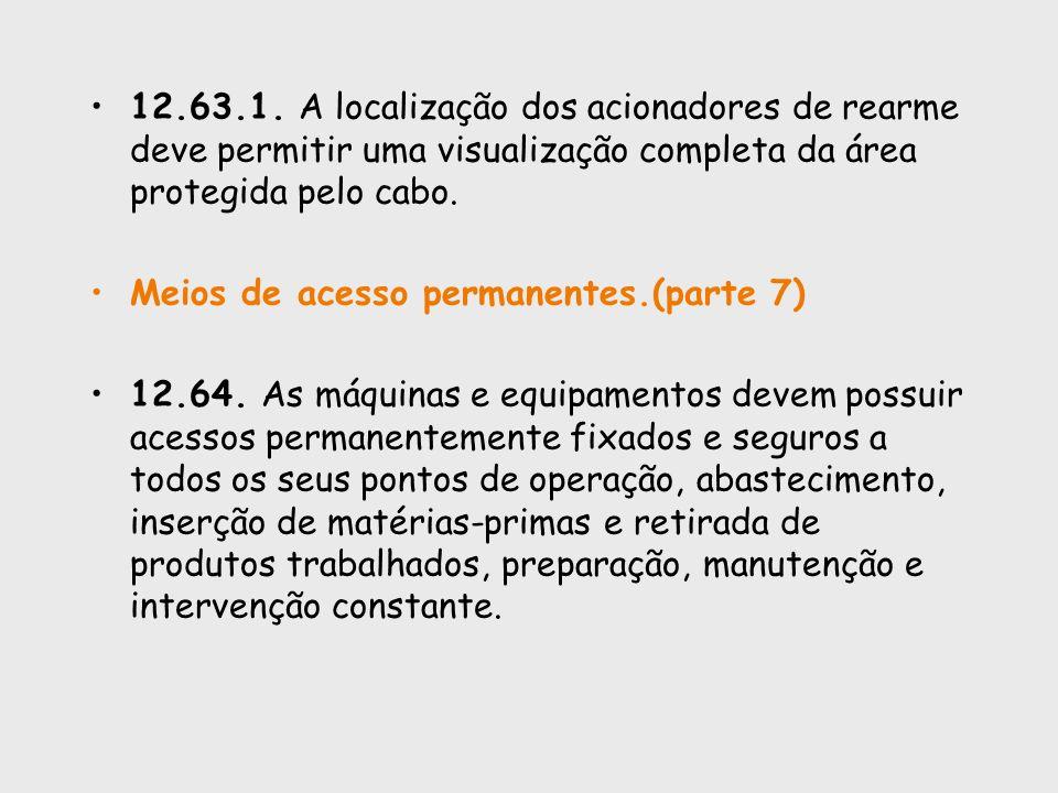 12.63.1. A localização dos acionadores de rearme deve permitir uma visualização completa da área protegida pelo cabo.