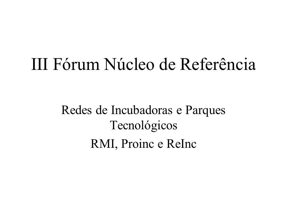III Fórum Núcleo de Referência