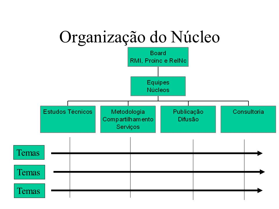 Organização do Núcleo Temas Temas Temas