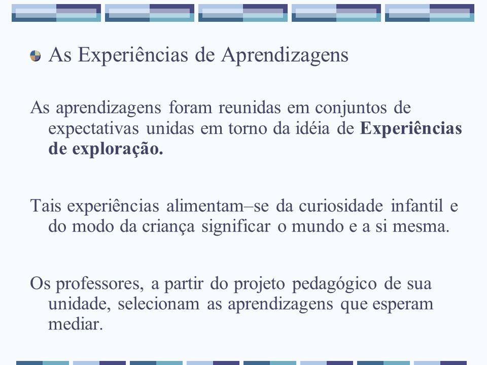 As Experiências de Aprendizagens