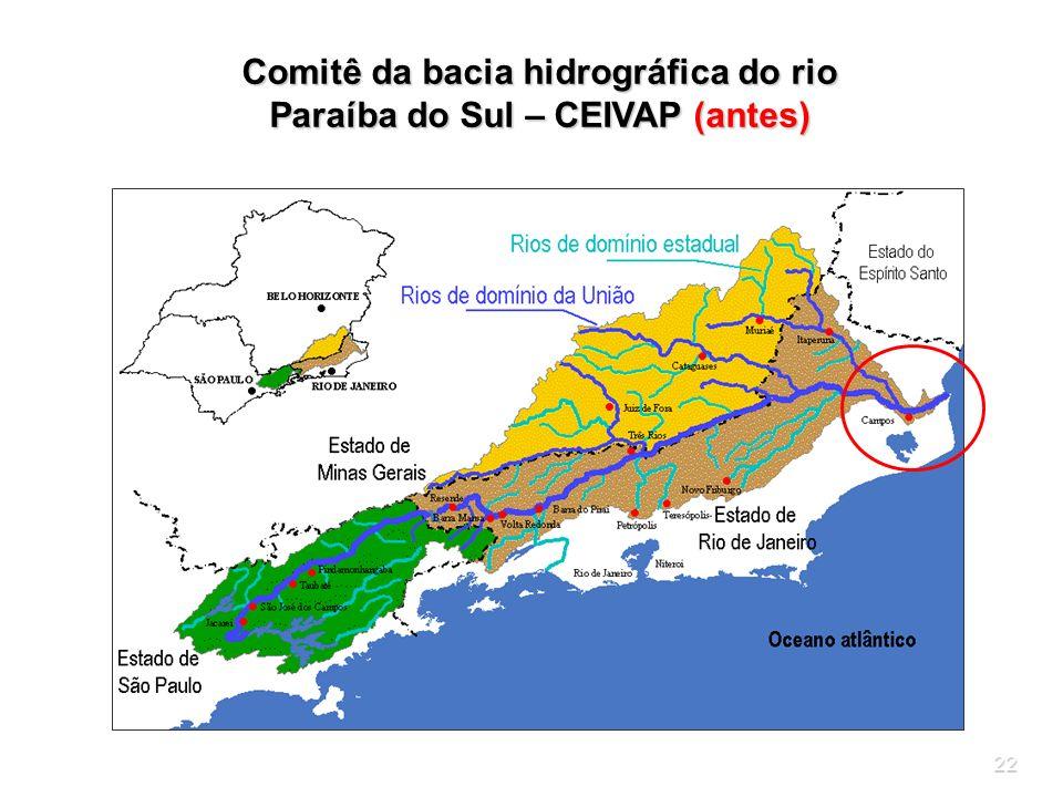 Comitê da bacia hidrográfica do rio Paraíba do Sul – CEIVAP (antes)