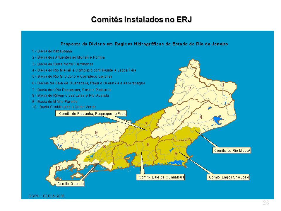 Comitês Instalados no ERJ