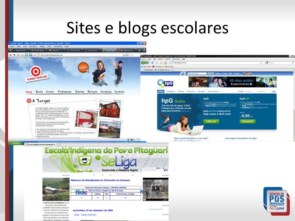 Sites e blogs escolares