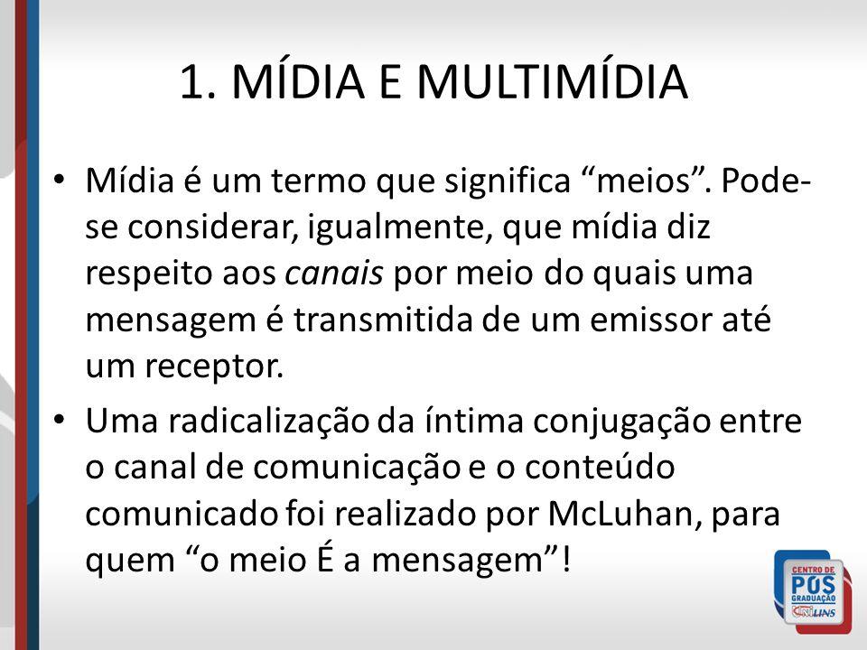 1. MÍDIA E MULTIMÍDIA