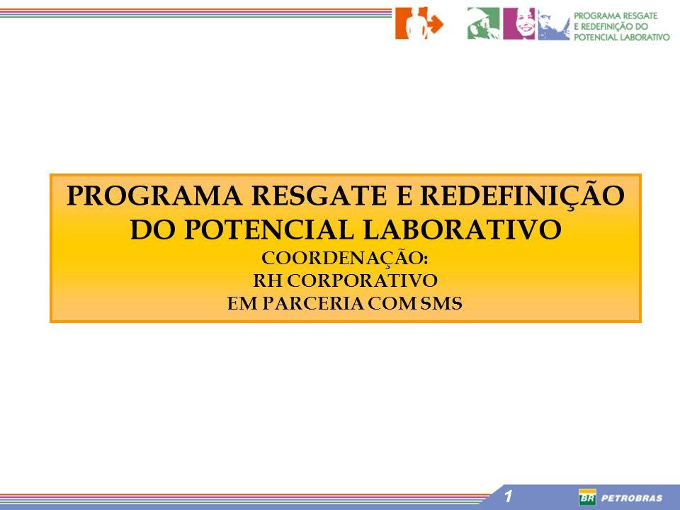 PROGRAMA RESGATE E REDEFINIÇÃO DO POTENCIAL LABORATIVO