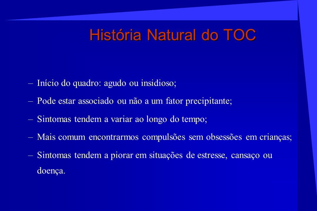 História Natural do TOC