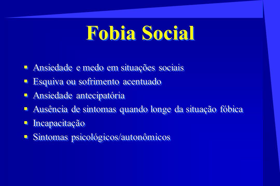 Fobia Social Ansiedade e medo em situações sociais