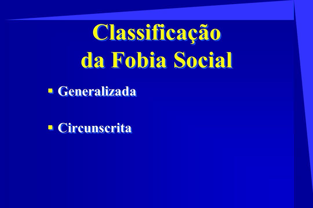 Classificação da Fobia Social
