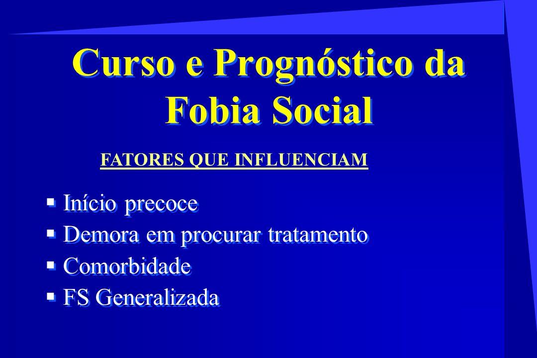 Curso e Prognóstico da Fobia Social