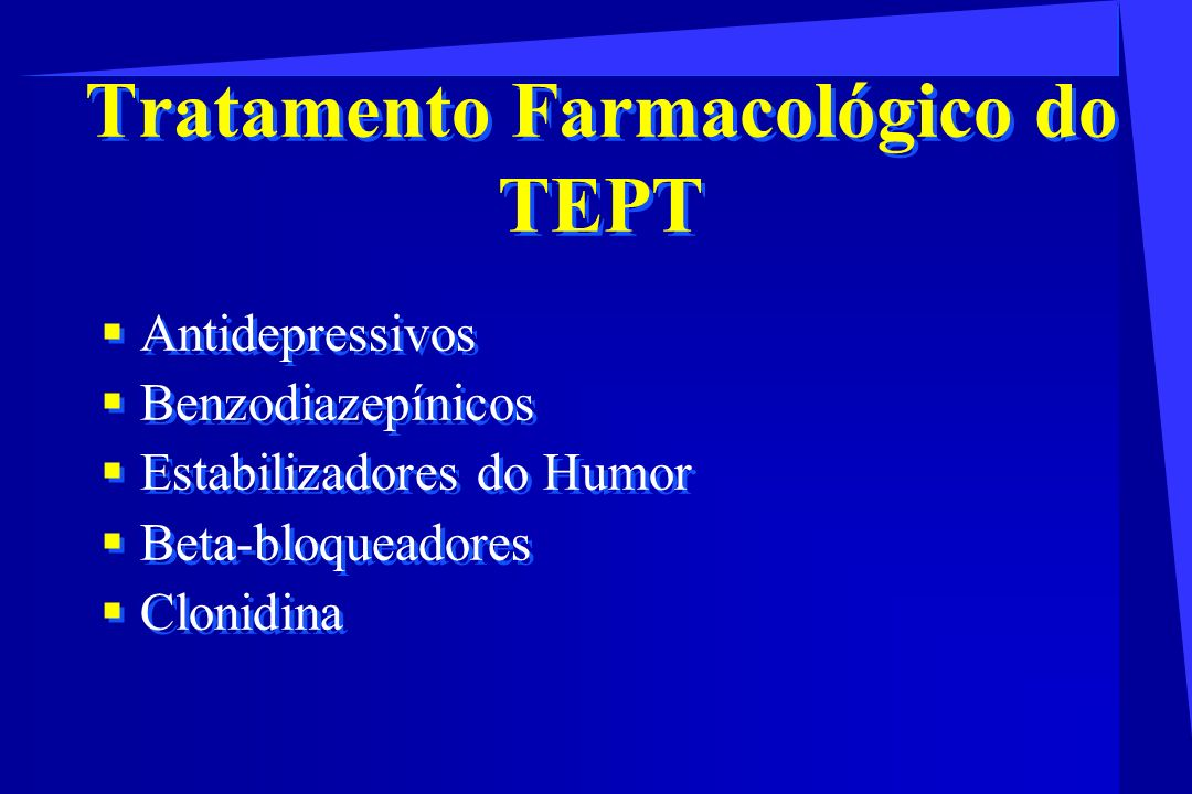 Tratamento Farmacológico do TEPT