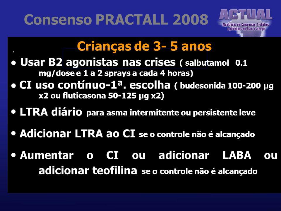 Consenso PRACTALL 2008 Crianças de 3- 5 anos