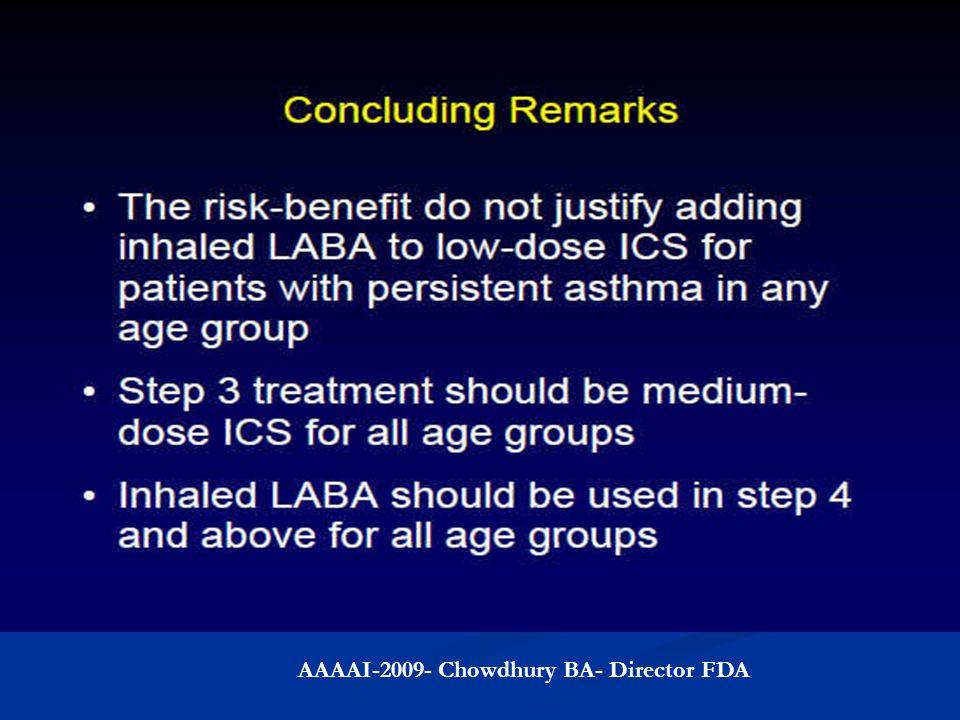 AAAAI-2009- Chowdhury BA- Director FDA