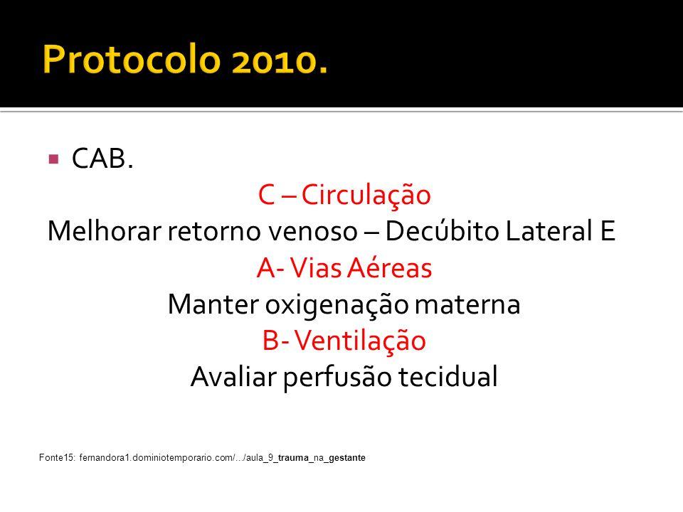 Protocolo 2010. CAB. C – Circulação