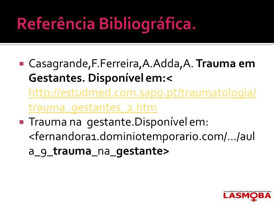 Referência Bibliográfica.