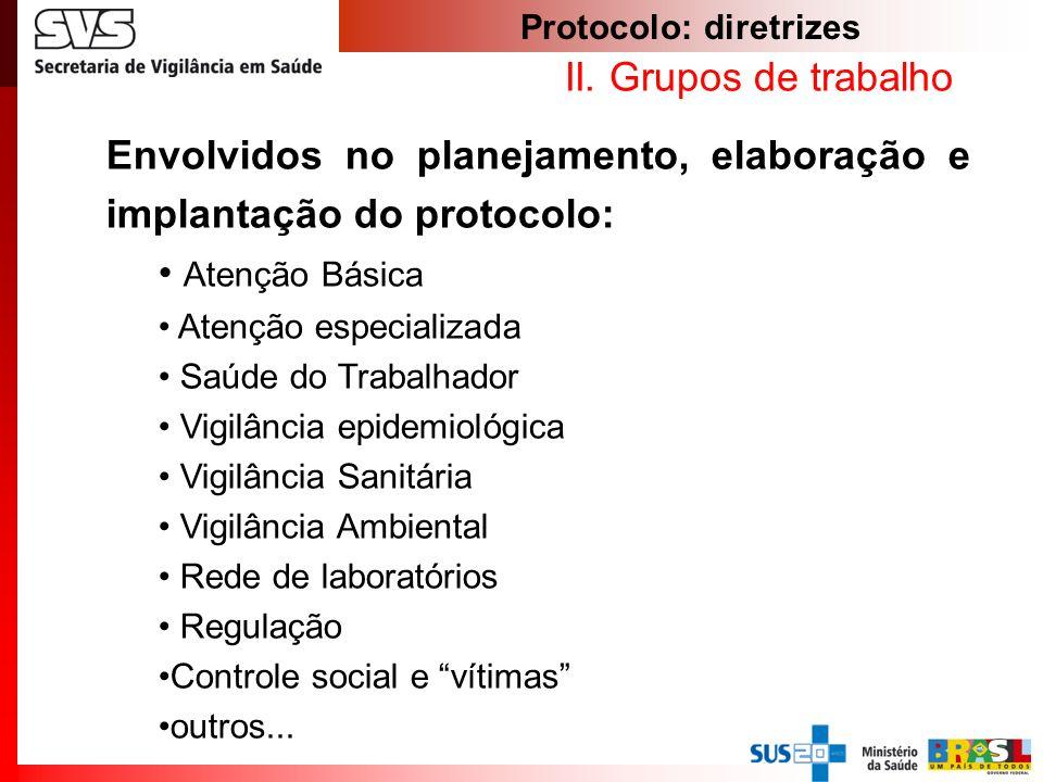 Protocolo: diretrizes