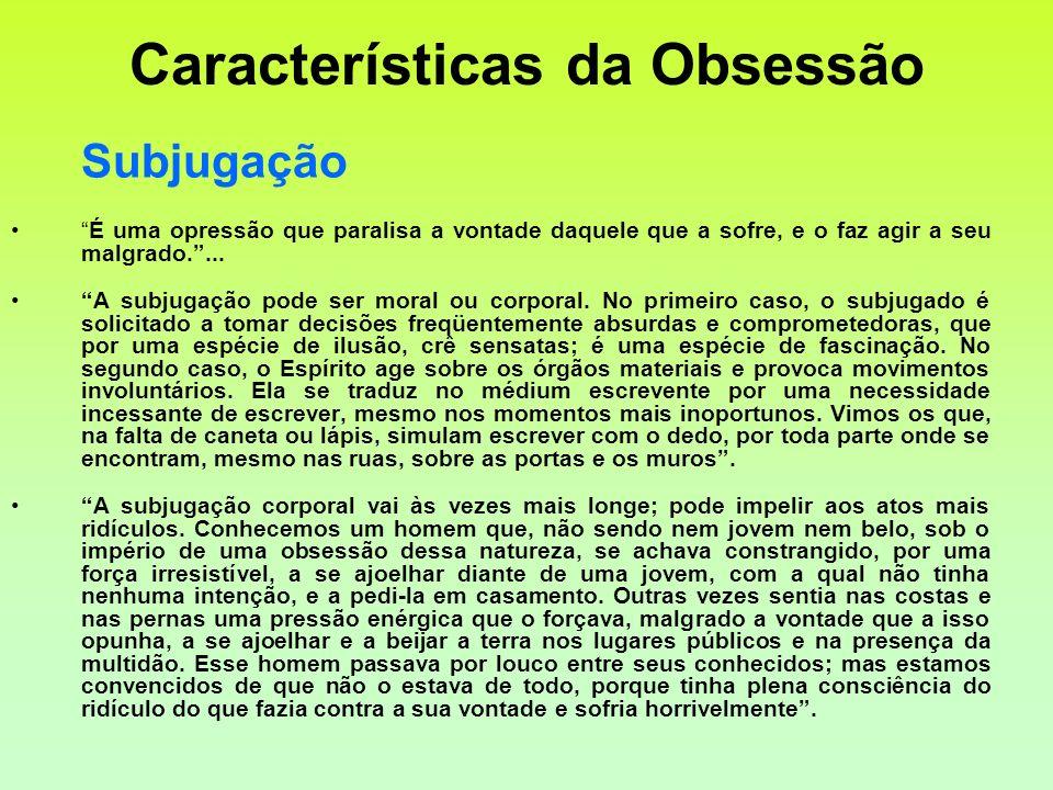 Características da Obsessão