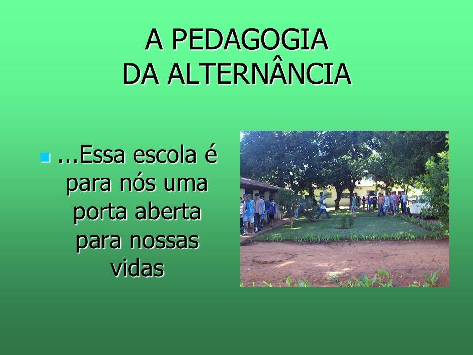 A PEDAGOGIA DA ALTERNÂNCIA