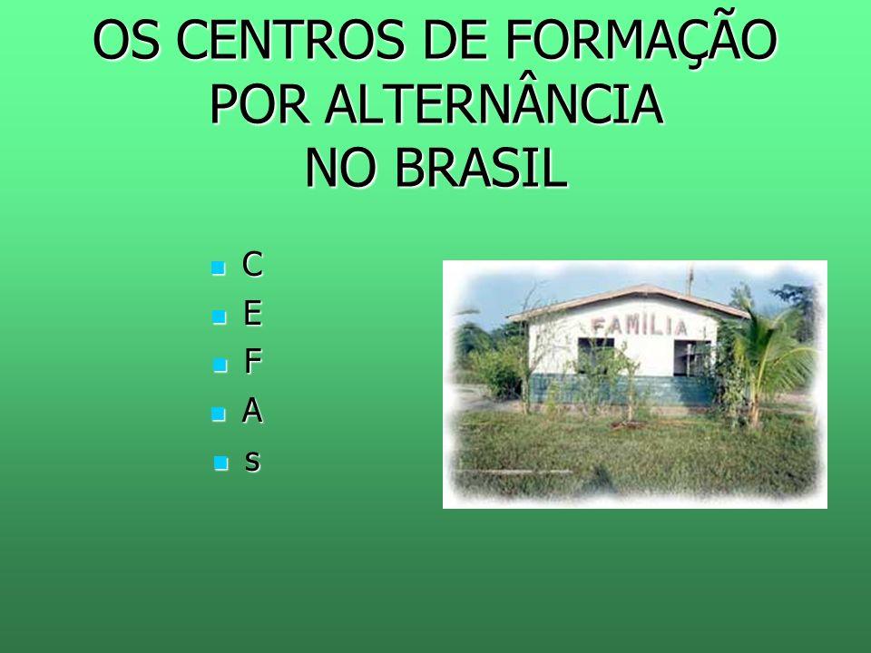 OS CENTROS DE FORMAÇÃO POR ALTERNÂNCIA NO BRASIL
