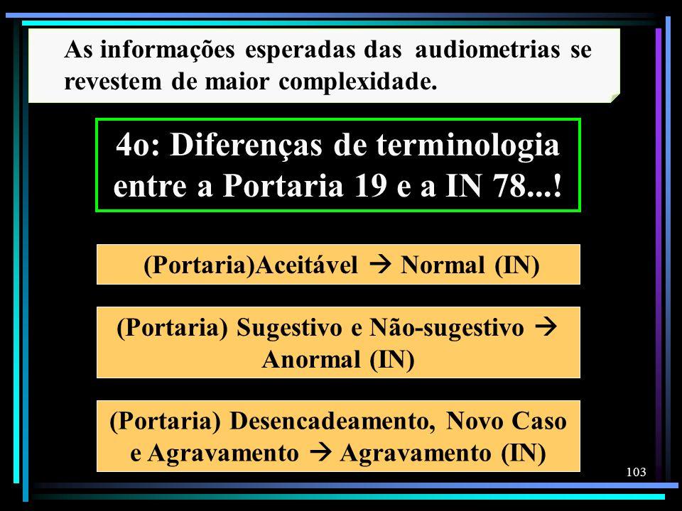 4o: Diferenças de terminologia entre a Portaria 19 e a IN 78...!