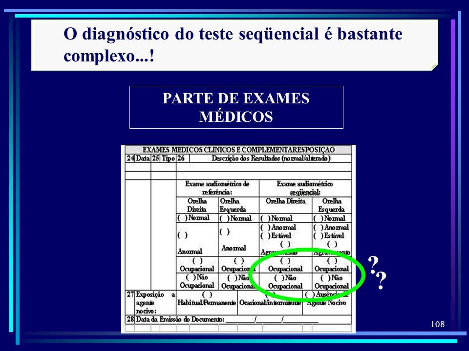PARTE DE EXAMES MÉDICOS