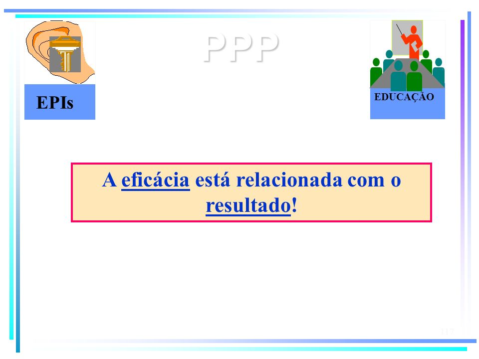 A eficácia está relacionada com o resultado!
