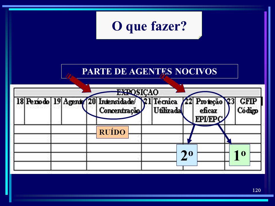 PARTE DE AGENTES NOCIVOS