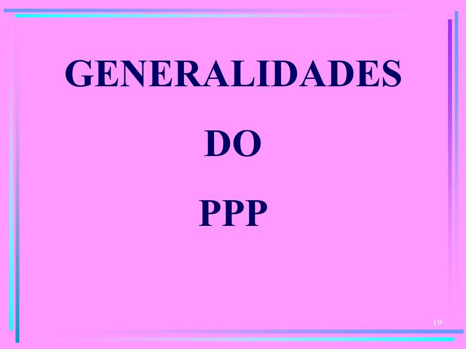 GENERALIDADES DO PPP
