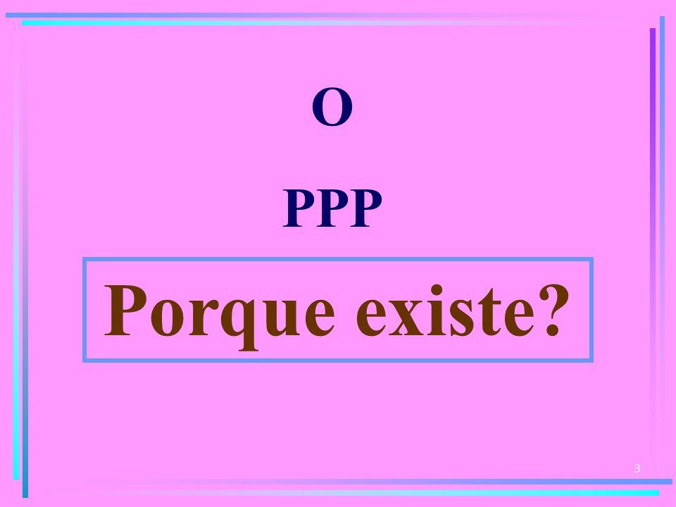 O PPP Porque existe