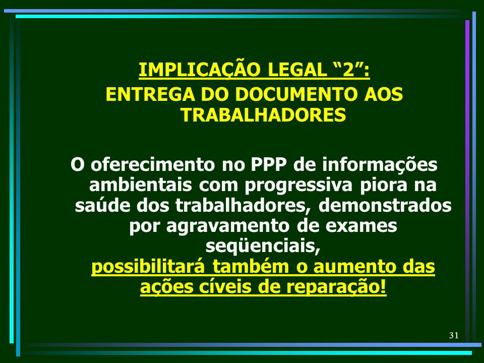 ENTREGA DO DOCUMENTO AOS TRABALHADORES