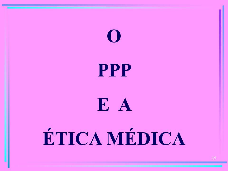 O PPP E A ÉTICA MÉDICA