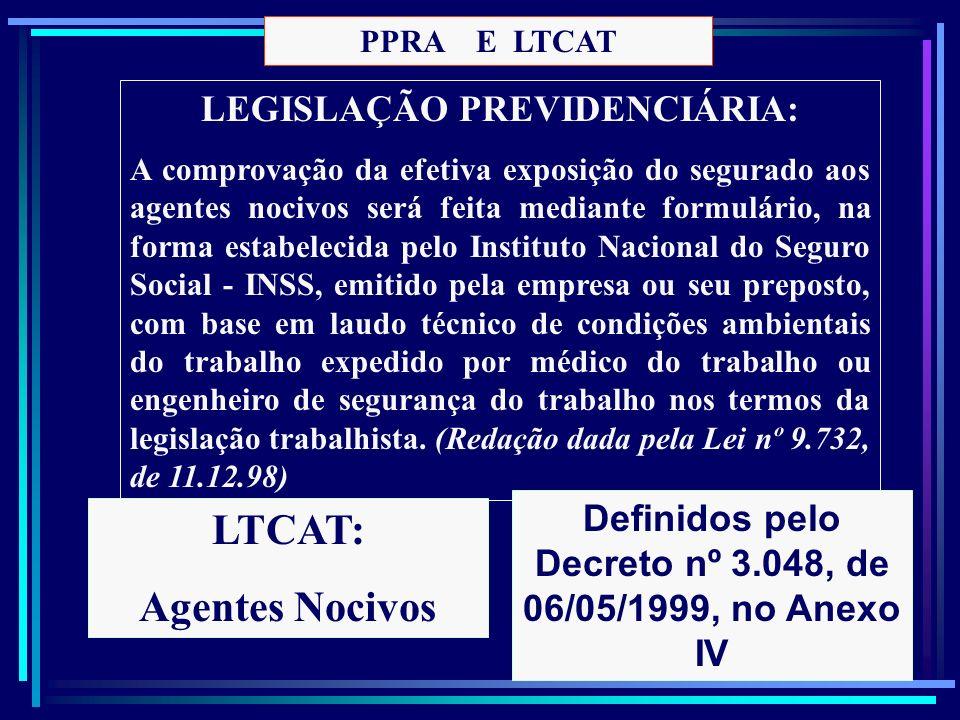 LEGISLAÇÃO PREVIDENCIÁRIA: